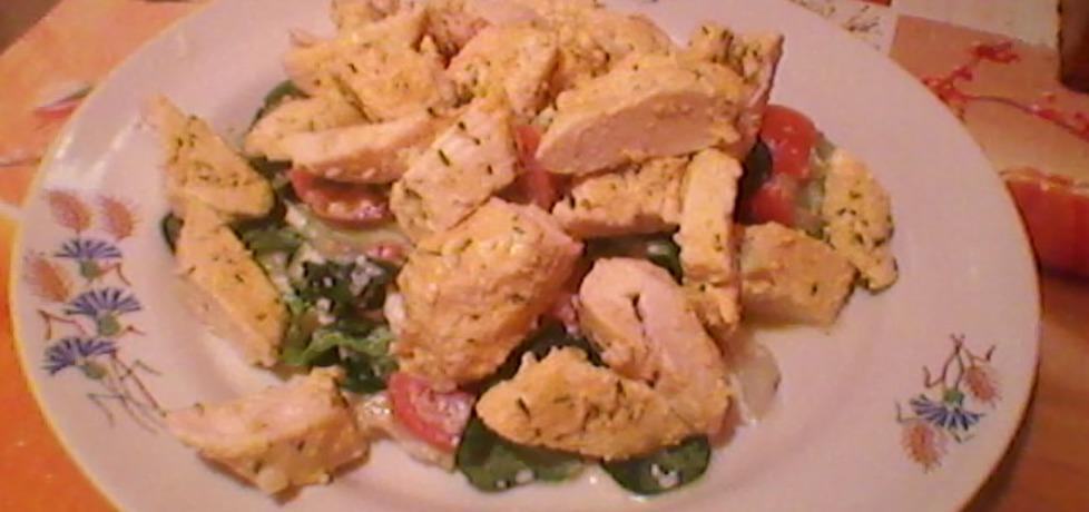 Sałatka z kurczaka z roszponką i fetą (autor: justyna223 ...