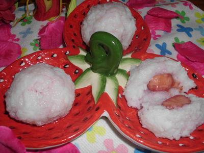 Kule ryżowe z niespodzianką