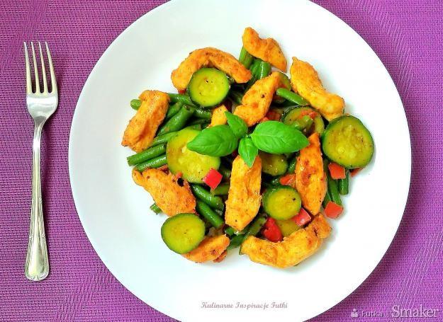 Pikantny kurczak curry z warzywami