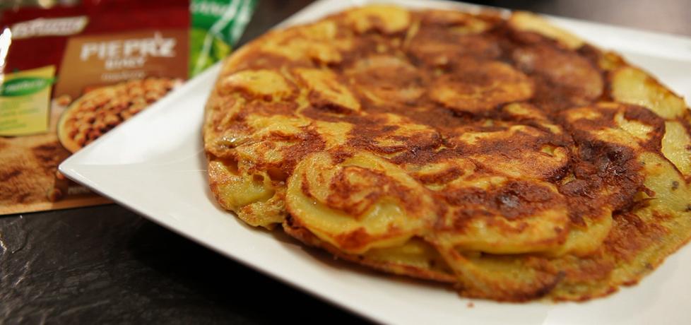 Tortilla z ziemniakami i cebulą po hiszpańsku