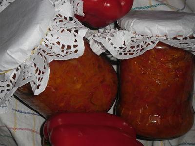 Sałatka z papryką na zimę