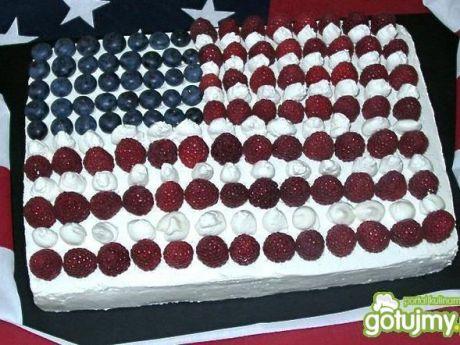Przepis  ciasto flaga usa przepis