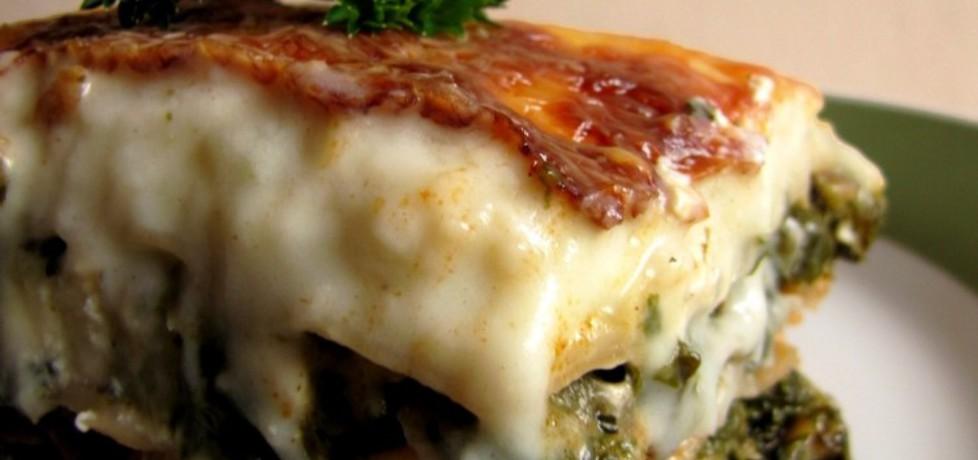 Lasagne ze szpinakiem mięsem i grzybami (autor: luna19 ...