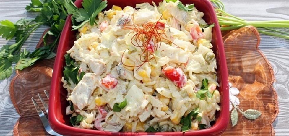 Sałatka z zupek chińskich (z kurczakiem i kapustą pekińską) (autor ...
