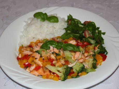 Przepis  potrawka z łososia przepis