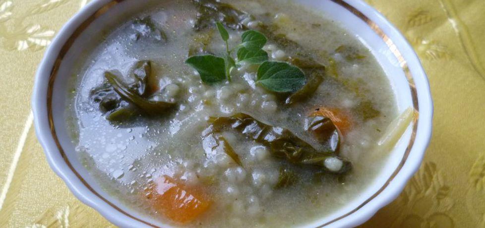 Zupa szpinakowa z kaszą jęczmienną (autor: krystyna32 ...