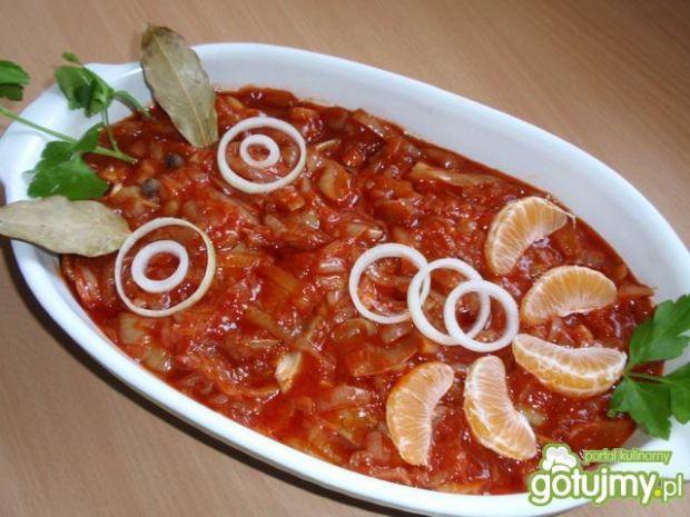 Przepis na śledzie z miodem w pomidorach
