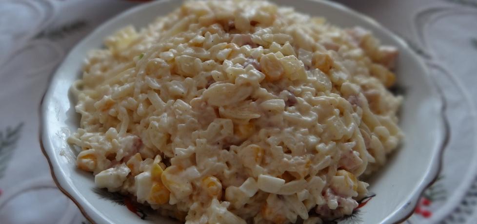 Sałatka z makaronu w kształcie ryżu (autor: megg)