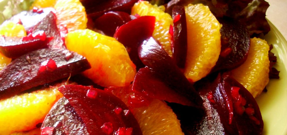 Sałatka z buraków z pomarańczami (autor: smacznapyza ...