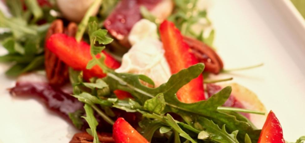 Wielkanoc: wiosenna sałatka z rukoli i wędzonej piersi kaczki z ...