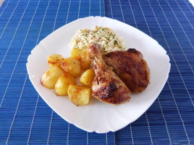 Przepis  ćwiartka z kurczaka w słodko