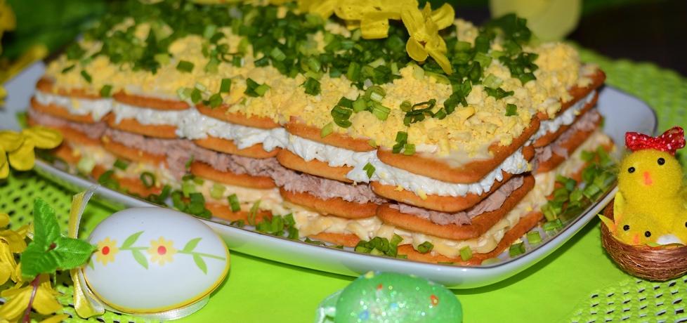 Wielkanocna jajeczna sałatka na krakersach (autor: linka2107 ...