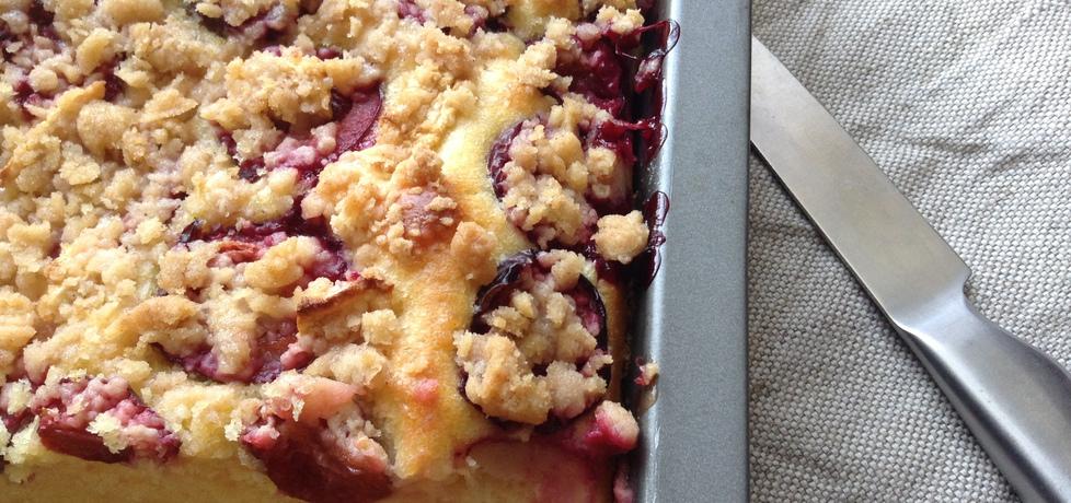 Ciasto drożdżowe ze śliwkami i jabłkami (autor: renata22 ...