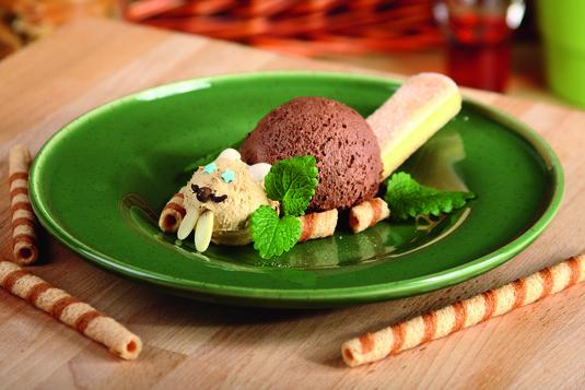 Lody czekoladowe z biszkoptami bóbr