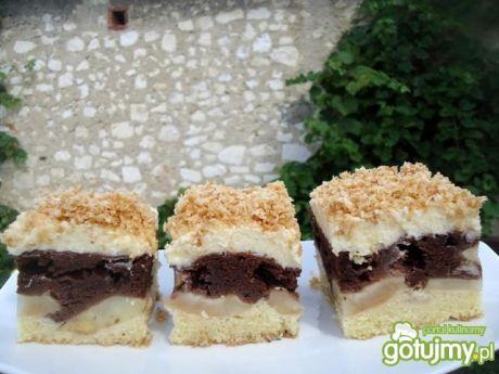 Przepis  ciasto z jabłkami, kakao i kokosem przepis