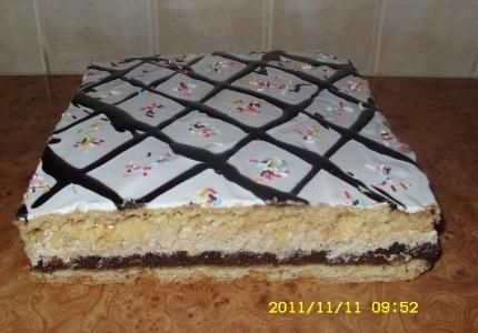 Ciasto makowe z masą orzechową
