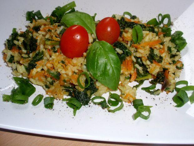 Przepis  ryż z marchewką z patelni przepis