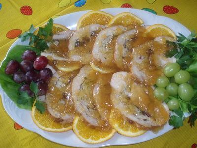 Filet z indyka z żurawiną w galarecie