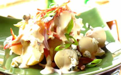 Młode ziemniaki z musztardą i miodem
