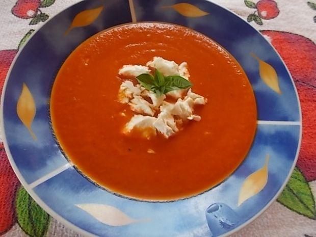 Przepis  zupa czerwony miszmasz z fetą przepis