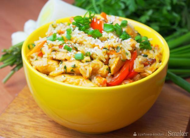 Kurczak po chińsku z ryżem  szybki i smaczny