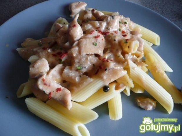 Najlepsze pomysły na:makaron z kurczakiem i sosem śmietanowym ...