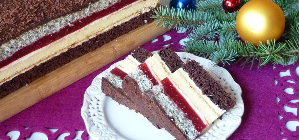 Ciasto z serem i musem truskawkowym (autor: renatazet ...