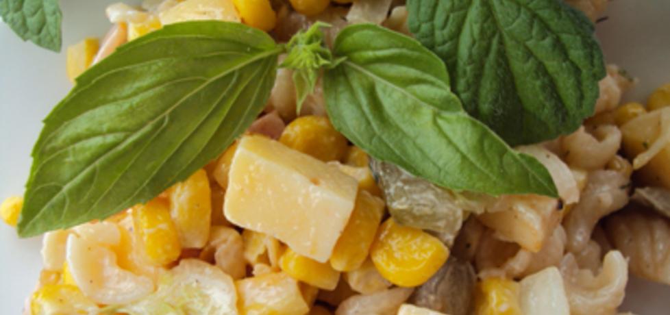 Sałatka z makaronem, szynką i serem (autor: przejs ...