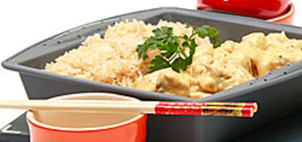 Kurczak w sosie musztardowym z ryżem (autor: kulinarny