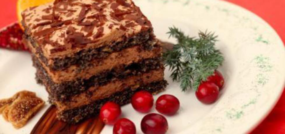 Świąteczny tort makowy z kremem kawowym .*. (autor: doradca ...