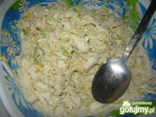 Przepis  sałatka z pora do ziemniaków przepis