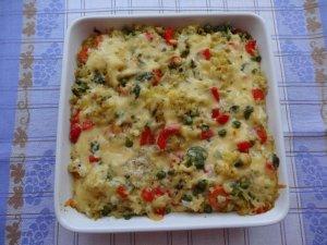 Zapiekanka warzywna z ryżem  prosty przepis i składniki