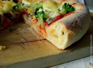 Pizza z serem w rantach  przepis bloggera