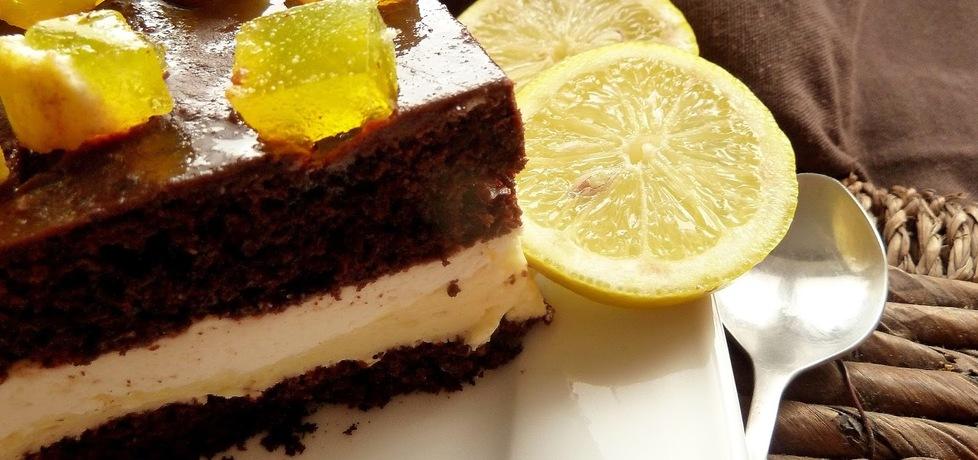 Ciasto czekoladowe z masą cytrynową (autor: pobitegarybarbary ...