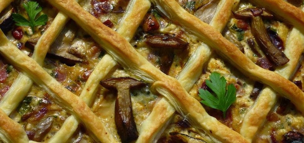Tarta z grzybami, boczkiem i serem pleśniowym (autor ...