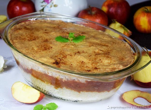 Zapiekany ryż z jabłkami   cynamonowe nadzienie