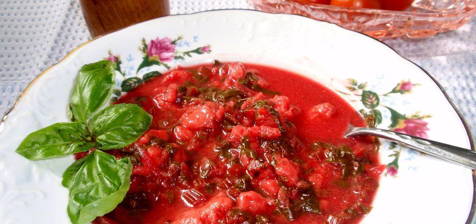 Zupa z botwinki nieco inaczej bo z kluskami lanymi (autor: gosia56 ...