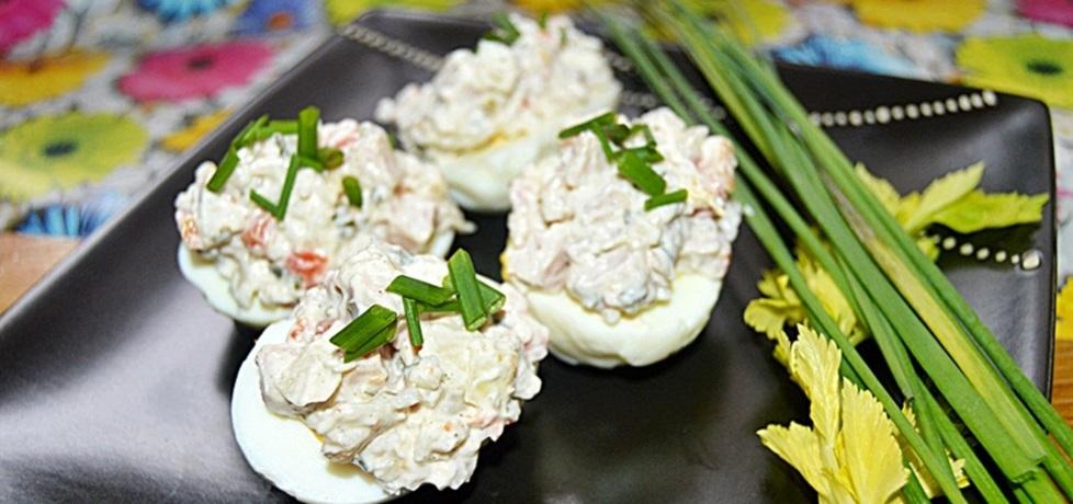 Jajka faszerowane sałatką (autor: szpileczkiibabeczki ...