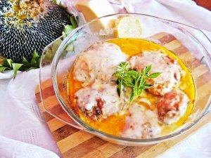 Kurczak w sosie serowym z czosnkiem i bazylią