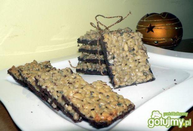 Przepis  kakaowe ciasteczka ze słonecznikiem przepis