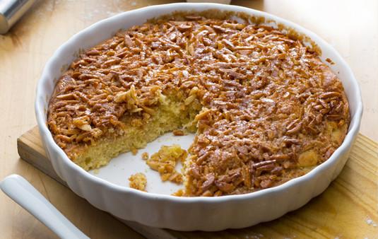 Karmelizowane ciasto migdałowe