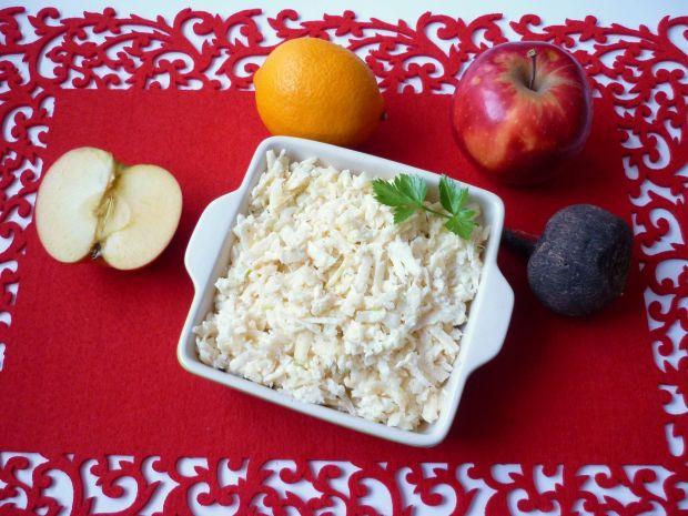 Przepis  biała surówka do obiadu przepis