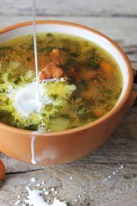 Kremowa zupa kurkowa z boczkiem