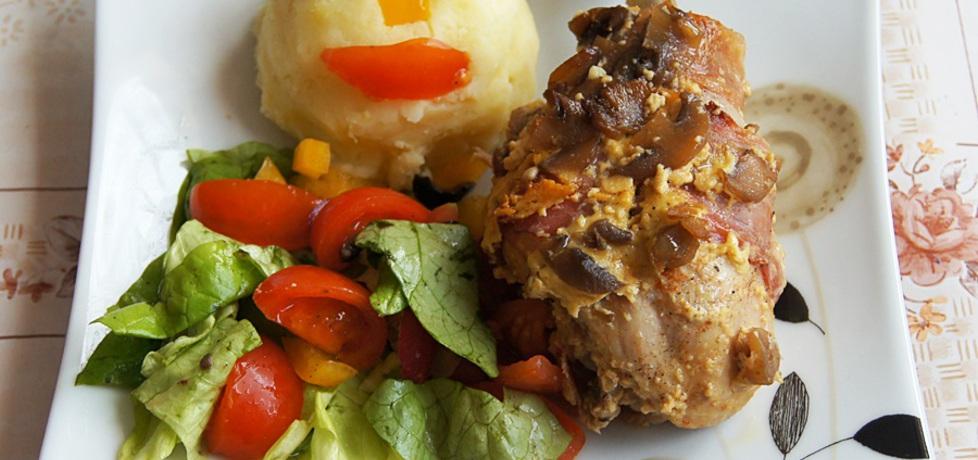 Pałki z kurczaka zapiekane w szynce szwarcwaldzkiej (autor ...