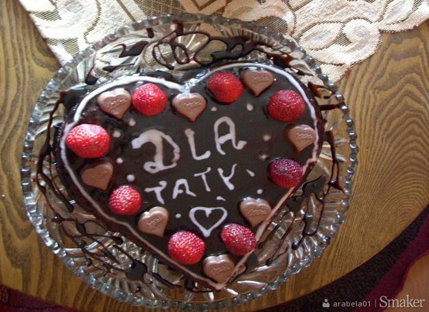 Czekoladowe ciasto dla taty :)