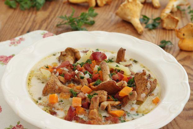 Przepis  kurkowa zupa podwędzana przepis