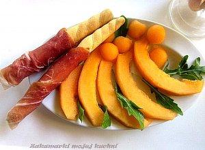 Melon z szynka parmeńską  prosty przepis i składniki