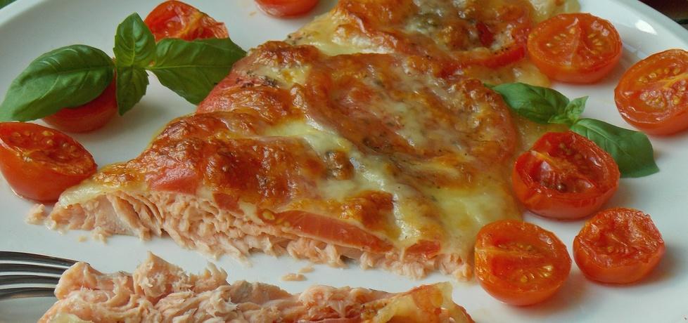 Pstrąg łososiowy pieczony z pomidorami i mozarellą (autor: mniam ...