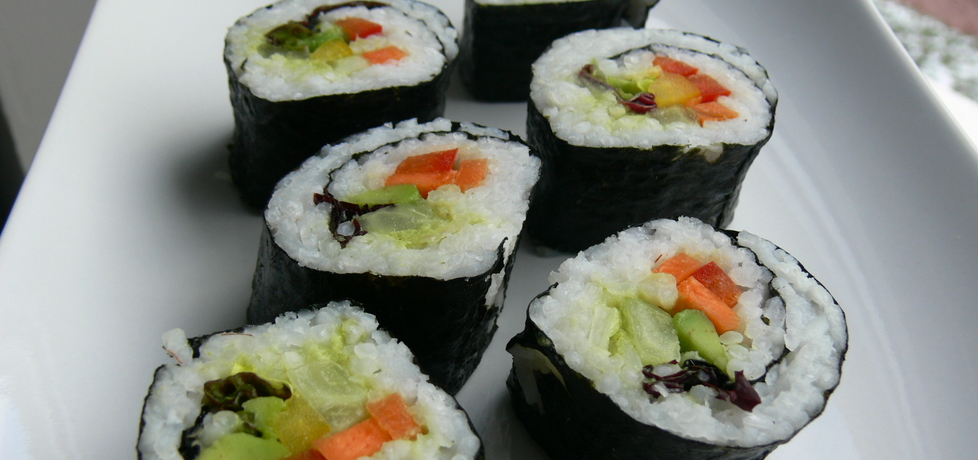Wegańskie sushi na bogato (autor: bernadettap)