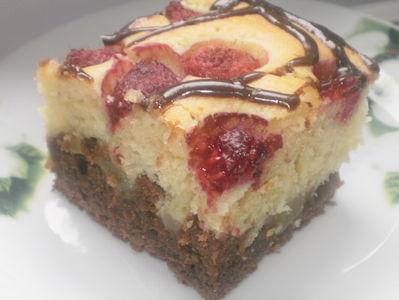 Szybkie ciasto z malinami i dynią.